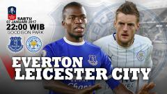 Indosport - Susunan pemain Everton vs Leicester City.
