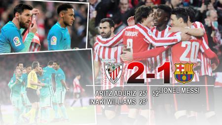 Athletic Bilbao sukses merengkuh kemenangan atas Barcelona di babak 16 besar Copa del Rey yang berlangsung di Stadion San Mames. - INDOSPORT