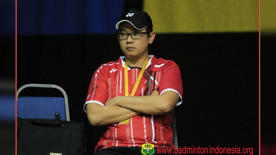Eng Hiang, pelatih bulutangkis ganda putri Indonesia. Copyright: PBSI