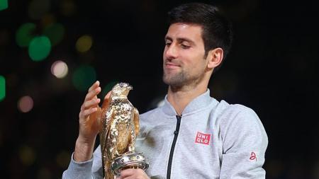 Novak Djokovic berhasil memenangkan trofi Qatar Terbuka di Doha. - INDOSPORT