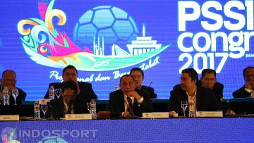 Suasana Kongres PSSI di Hotel Aryaduta, Bandung, Minggu (08/01/17)