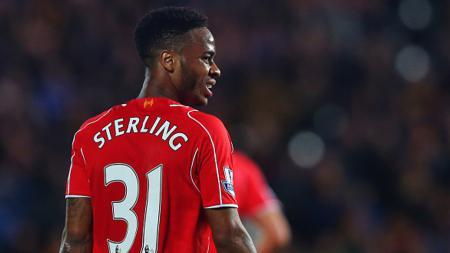 Raheem Sterling saat masih berseragam Liverpool. - INDOSPORT