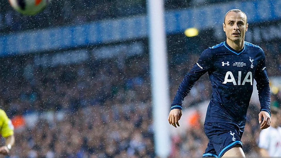 Dimitar Berbatov saat masih bermasin dan menggunakan jersey Tottenham Hotspur. Copyright: Getty Images