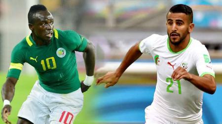 Sadio Mane dan Riyad Mahrez - INDOSPORT