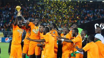 Momen Pantai Gading juara Piala Afrika 2015.