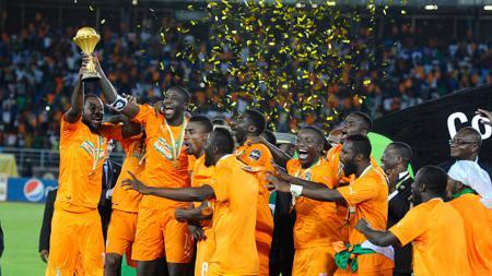 Momen Pantai Gading juara Piala Afrika 2015. - INDOSPORT