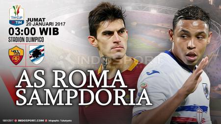 Prediksi AS Roma vs Sampdoria. - INDOSPORT