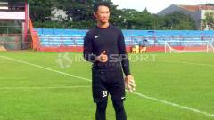Indosport - Rivky Deython Mokodompit (Semen Padang FC).