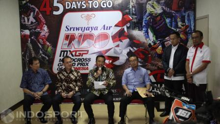 Suasana jumpa pers Count Down MXGP 2017.