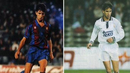 Luis Milla saat bermain di Barcelona dan Real Madrid. - INDOSPORT