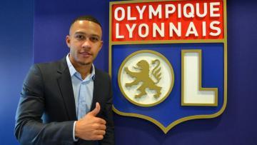 Memphis Depay penggawa anyar Olympique Lyon.