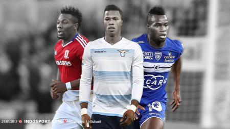 kiri-kanan: Adama Traore, Balde Diao Keita dan Lassana Coulibaly. - INDOSPORT
