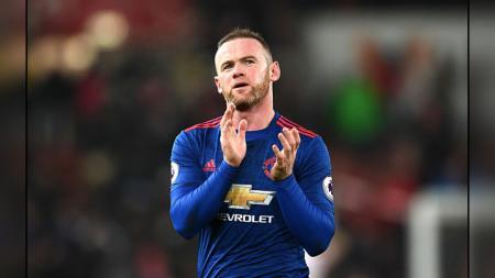 Wayne Rooney ketika melawan Stoke City. - INDOSPORT