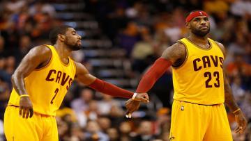 Kyrie Irving dan LeBron James.