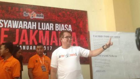 Ketua Umum The Jakmania, Tauhid Ferry Indrasjarief. - INDOSPORT