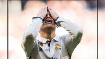 James Rodriguez sempat menunjukkan wajah cemberut dalam laga melawan Espanyol.