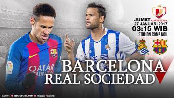 Prediksi Barcelona vs Real Sociedad.