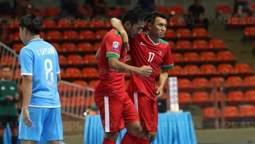 Timnas Futsal Indonesia saat menghadapi Laos.