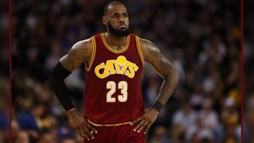 Pemain bintang Cleveland Cavaliers, LeBron James.