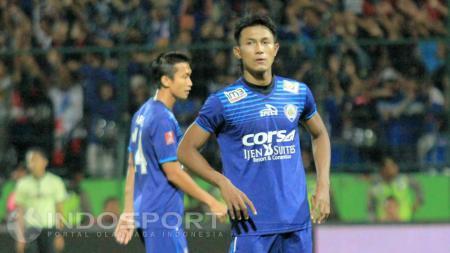 Johan Ahmat Farizi satu dari dua pemain Arema FC yang akan meninggalkan tim untuk menempuh kursus kepelatihan pada 14 sampai 31 Januari 2021 mendatang. - INDOSPORT