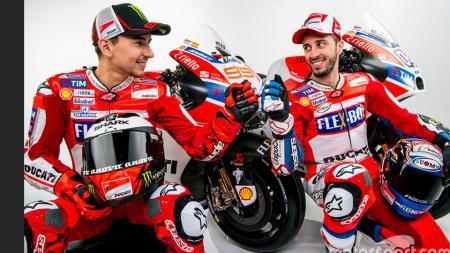 Jorge Lorenzo akan berpasangan dengan Andrea Dovizioso di Ducati. - INDOSPORT