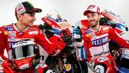 Andrea Dovizioso dan Jorge Lorenzo saat masih tergabung dengan Ducati - INDOSPORT