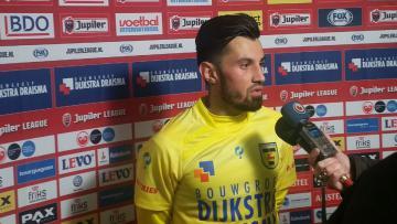 Stefano Lilipaly usai pertandingan melawan FC Dordrecht.