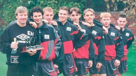 Para anggota Class of 92 yang membawa Manchester United ke masa jaya era Liga Primer Inggris. - INDOSPORT
