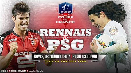 Prediksi Stade Rennais vs Paris Saint Germain. - INDOSPORT