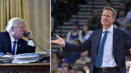 Presiden Amerika Serikat, Donald Trump dan Steve Kerr. - INDOSPORT