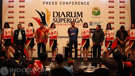 Suasa pengundian tim putra Djarum Superliga Badminton 2017.
