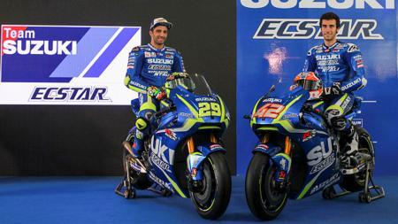 Pembalap Suzuki, Andrea Iannone dan Alex Rins. - INDOSPORT