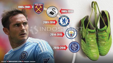 Frank Lampard memutuskan untuk gantung sepatu dari sepakbola. - INDOSPORT