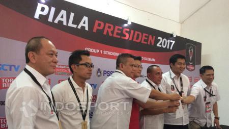 Konferensi pers Piala Presiden 2017. - INDOSPORT