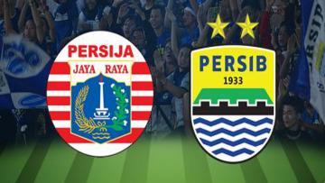 Logo Persija Jakarta dan Persib Bandung.