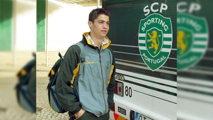 Cristiano Ronaldo saat masih di Sporting Lisbon. Copyright: Istimewa
