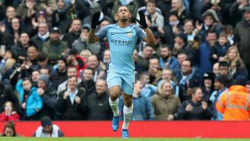 Gabriel Jesus menjadi pembuka gol Manchester City atas Swansea City.