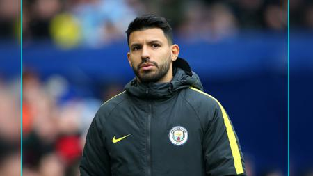 Striker Man City, Sergio Aguero. - INDOSPORT