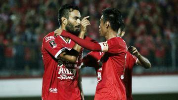 Selebrasi pemain Bali United.