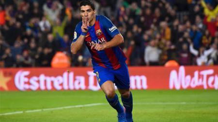 Luis Suarez sukses antar Barcelona ke final Copa del Rey. - INDOSPORT