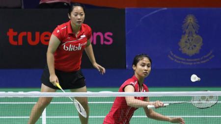 Tiara Rosalia Nuraidah/Rizki Amelia Pradipta menjadi wakil ganda putri Indonesia yang tersisa di turnamen China Masters 2017. - INDOSPORT