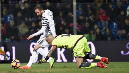 Gonzalo Higuain menyumbang satu gol untuk kemenangan Juventus. - INDOSPORT