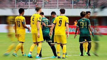 Laga Grup 1 Piala Presiden, saat PSS Sleman melawan Mitra Kukar.