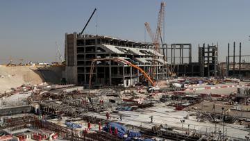 Salah satu proyek yang tengah digarap Qatar menuju Piala Dunia 2022.