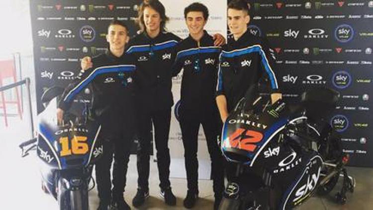 Tim Moto2 dan Moto3 Sky Racing Team VR46. Copyright: Twitter La Gazzetta dello Sport