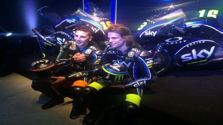 Tim balap Valentino Rossi, yakni Team VR46 atau yang dikenal sebagai Sky Racing VR26 kabarnya akan segera naik ke kelas MotoGP tahun depan. - INDOSPORT