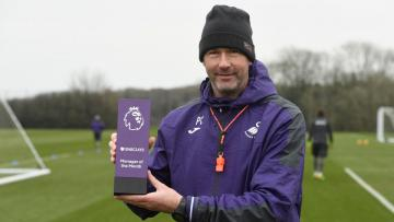Paul Clement meraih gelar Manager of the Month.