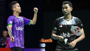 Tunggal putri andalan Indonesia, Anthony Ginting dan Tommy Sugiarto.