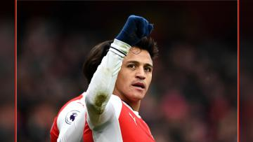 Alexis Sanchez, gelandang serang Arsenal.