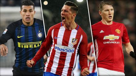 Kiri-kanan: Jeison Murillo, Fernando Torres dan Bastian Schweinsteiger. - INDOSPORT